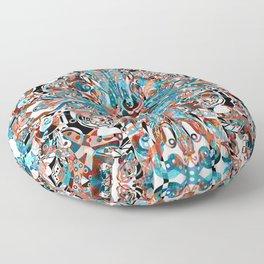 """""""Transition""""   Autumn To Winter Mandala Pattern Floor Pillow"""