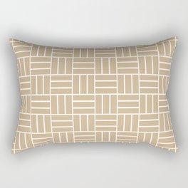 Basketweave (White & Tan Pattern) Rectangular Pillow