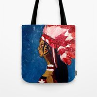 native american Tote Bags featuring Native American by Ksuhappy