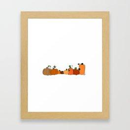 Pumpkins in a Row Framed Art Print