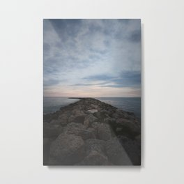The Jetty at Sunset - Vertical Metal Print