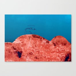 Bizon rouge Canvas Print