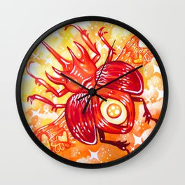 Autumn Beetle Wall Clock