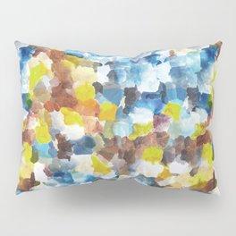 Painterly Orange Blue Camouflage Pillow Sham