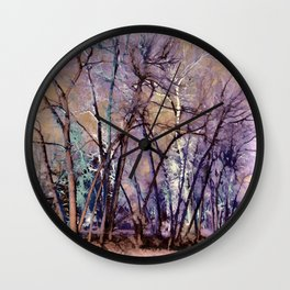 Trees are Poems That the Earth Writes Upon the Sky Wall Clock