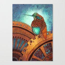 Clockwork Hummingbird Canvas Print