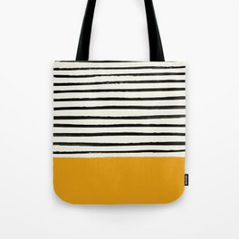 Fall Pumpkin x Stripes Tote Bag