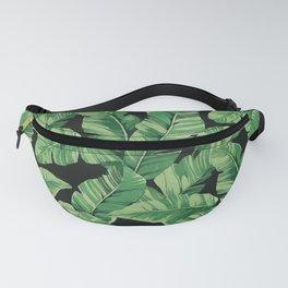Tropical banana leaves II Fanny Pack