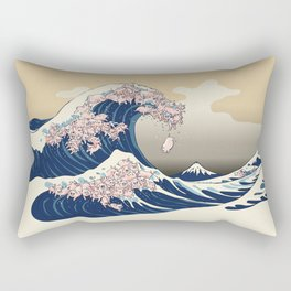 The Great Wave of Pigs Rectangular Pillow