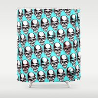 kindle Shower Curtains featuring 202 by ALLSKULL.NET
