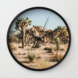 Shapes and Sizes- Joshua Tree Wall Clock