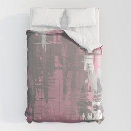 Demigirl Pride Rough Crosshatched Paint Strokes Comforters