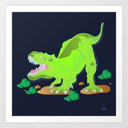 Dino - Bright Art Print