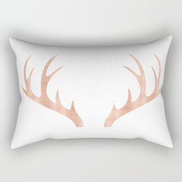 Antlers Rose Gold Deer Antlers Rectangular Pillow
