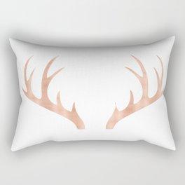 Antlers Rose Gold Deer Antlers Rectangular Pillow