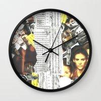 persona Wall Clocks featuring Persona Solara by Antimatéria