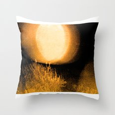 Dark Night Amber Throw Pillow
