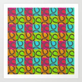 squares & curls Art Print