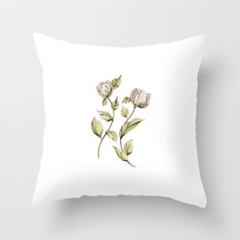 Dancing Roses Throw Pillow
