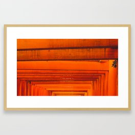 Black Thumbnail Framed Art Print