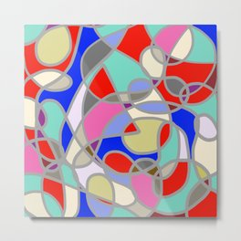 Stain Glass Abstract Meditation Painting 1 Metal Print