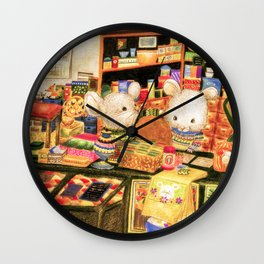 Taiwan Komori Mice Wall Clock