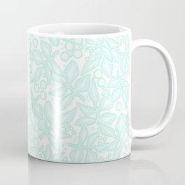 Mint floral pattern Coffee Mug