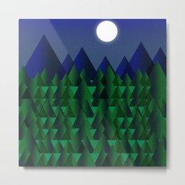 Moonlight & Mountains Metal Print