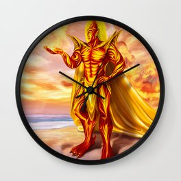 Dwain God of fire Wall Clock
