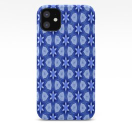 Blue Flower Geometrics iPhone Case