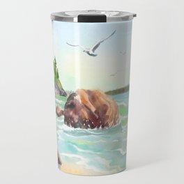 Morning on the Beach Travel Mug