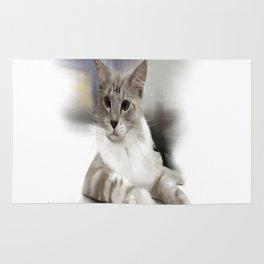 Maine coon cat Rug