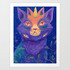 Galactic Kitties: Topaz Art Print