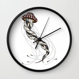 Jellyfish animal pok Wall Clock