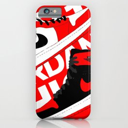 Chicago Red AJ1 iPhone Case