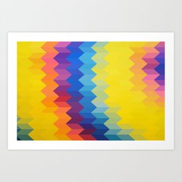 RAINBOW PATH Art Print