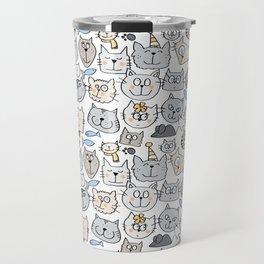 Cat love Travel Mug