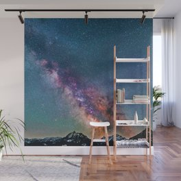 Pastel Galaxy of Mountains (Color) Wall Mural