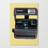 polaroid Canvas Prints featuring Polaroid  by Dora Birgis