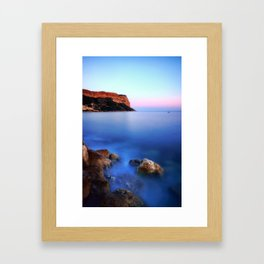 Cap Canaille (Cassis, France) at sunset Framed Art Print