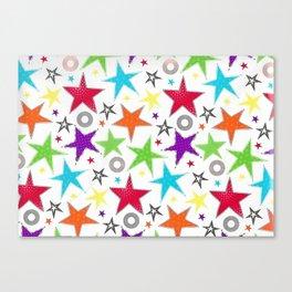 cute colourful stars Canvas Print