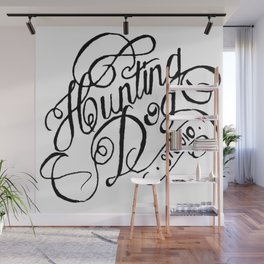 hunting dog logo  Wall Mural