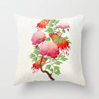 goldfish Throw Pillows featuring goldfish by Manoou