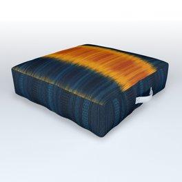 N249 - Orange Blue Oriental Vintage Boho Moroccan Style Outdoor Floor Cushion