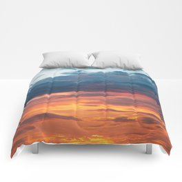 Vibrant Sunset Clouds Comforters