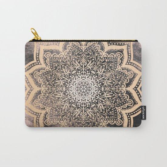GOLD EARTH FLOWER MANDALA Carry-All Pouch