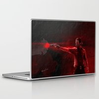 rick grimes Laptop & iPad Skins featuring The Walking Dead Rick Grimes oil painting effect by Roboz