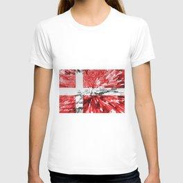 Extruded Flag of Denmark T-shirt
