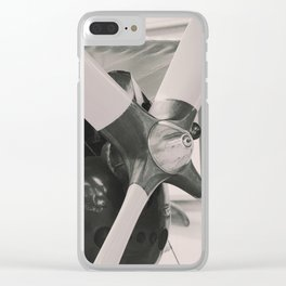 Vintage Aircraft engine. Clear iPhone Case