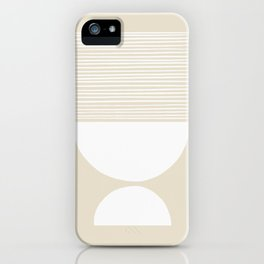 Linen Inverted White Scale Shutter Mirror iPhone Case